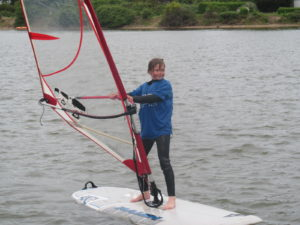 Windsurfing has been just one day out this year.