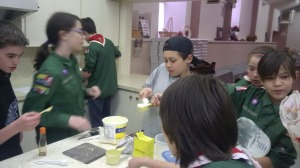 Scout cooks in action!